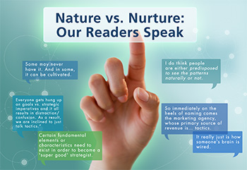 Nature vs Nuture: Our Readers Speak